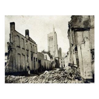 St.ヤコブ教会、Ypres、1915年6月 ポストカード