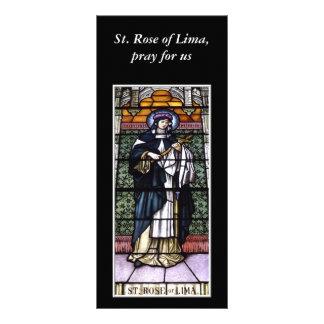 St.リマのバラ-私達汚されたガラス窓のために祈って下さい ラックカード