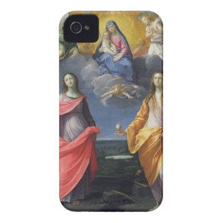 St.ルーシーおよびマグダラのマリアを持つマドンナそして子供 Case-Mate iPhone 4 ケース
