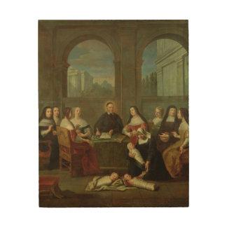 St.ヴィンチェンツォdeポールおよび慈善の姉妹 ウッドウォールアート