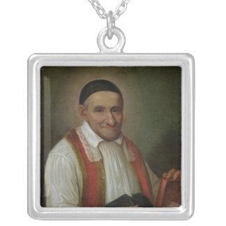St.ヴィンチェンツォdeポール1649年 シルバープレートネックレス