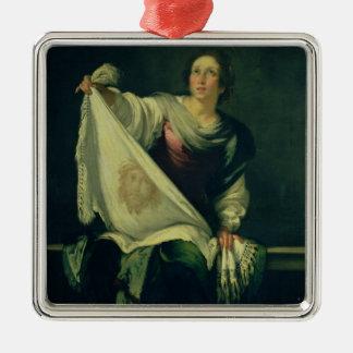 St.ヴェロニカ1625-30年(キャンバスの油) メタルオーナメント