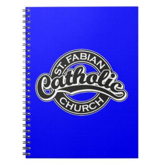St.白黒Fabianカトリック教会 ノートブック