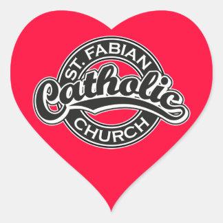 St.白黒Fabianカトリック教会 ハートシール