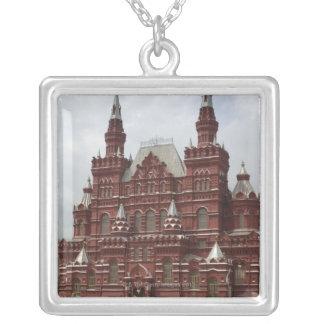 St.赤の広場、クレムリンのベズルのカテドラル、 シルバープレートネックレス
