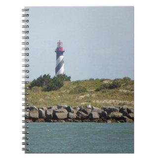 St. 8月の灯台ノートのVilanoの眺め ノートブック