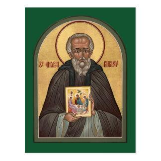 St. Andrei Rublevの祈りの言葉カード ポストカード