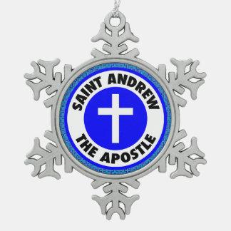 St Andrew使徒 スノーフレークピューターオーナメント
