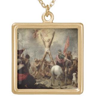 St Andrew 1675-82年の殉教(canvaの油 ゴールドプレートネックレス