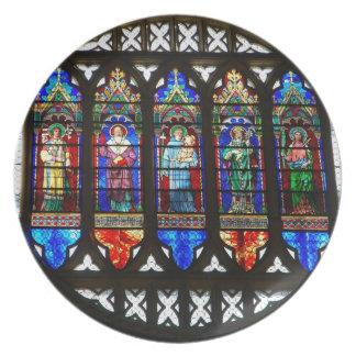 St Anthonyのバラ窓 プレート