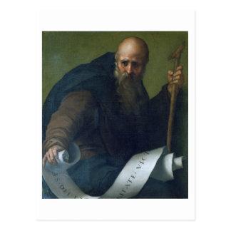 St Anthonyの大修道院長(c.251-356) c.1518-19 (カリフォルニアの油 ポストカード