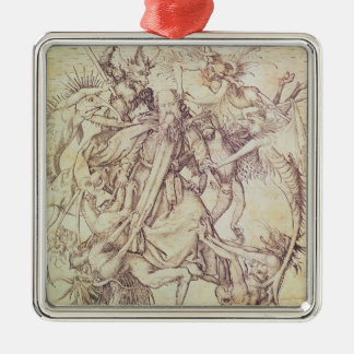 St Anthony (版木、銅版、版画)の誘惑 メタルオーナメント