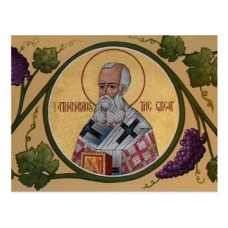 St. Athanasiosの祈りの言葉カード ポストカード