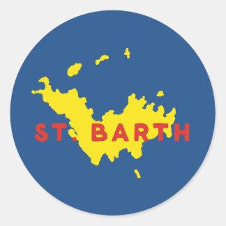 St. Barthのシルエット ラウンドシール