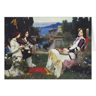 St Cecilia -ジョン・ウィリアム・ウォーターハウス カード