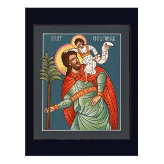 St Christopherの祈りの言葉カード ポストカード