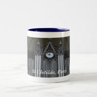St Clotilde、パリの器官 ツートーンマグカップ