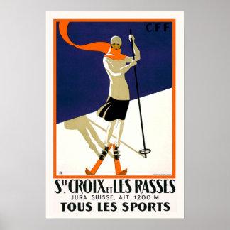 St. Croixスイス連邦共和国のスキー プリント