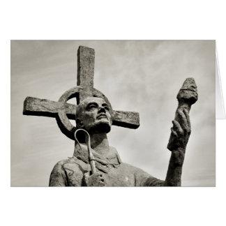 St Cuthbert - Lindisfarneの彫像 カード