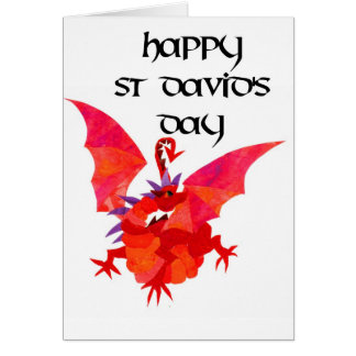 St Davidの日の挨拶状-英語 カード