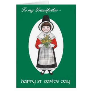 St Davidの日、祖父のためのウェールズの衣裳、 カード