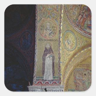 St Dominicおよびセントニコラスのアトリウムのモザイク スクエアシール