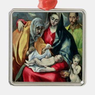 St.Elizabeth 1580-85年の神聖な家族 メタルオーナメント
