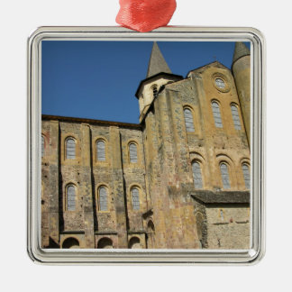 St. Foy、大修道院長によるOdolric始められたc.1050の教会( シルバーカラー正方形オーナメント