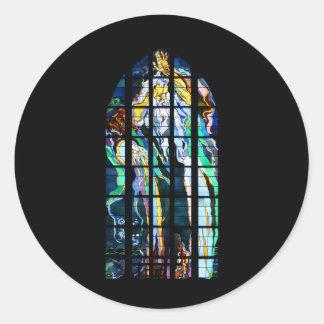St Francisのステンドグラスのクラクフ教会 ラウンドシール