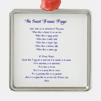 St. Francisの平和祈りの言葉 メタルオーナメント