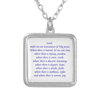 St. Francisの祈りの言葉 シルバープレートネックレス