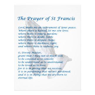 St. Francisの祈りの言葉 レターヘッド
