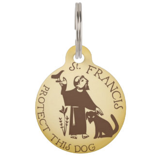St Francisはこの犬のペット用名札を保護します ペット ネームタグ