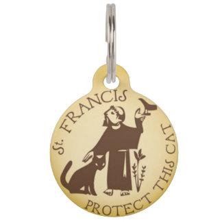 St Francisはこの猫のペット用名札を保護します ペット ネームタグ