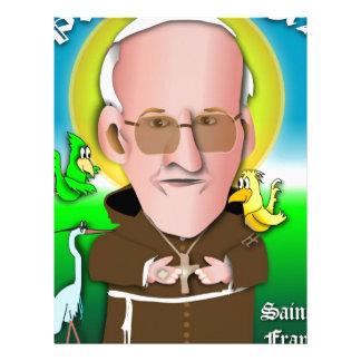 St Francisは祈ります レターヘッド