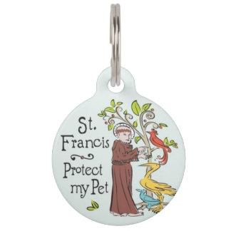 St Francisは私のペット用名札を保護します ペット ネームタグ