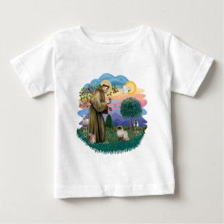 St. Francis (ff) -シールポイントヒマラヤ猫 ベビーTシャツ