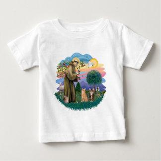 St. Francis (ff) - 2匹の虎猫猫 ベビーTシャツ