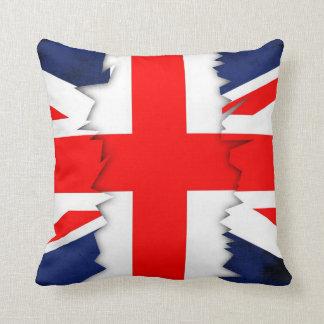 St.Georgesの十字、グランジな英国国旗の装飾用クッション クッション