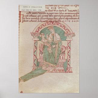 St Gregoryを持つヴァージンそして子供素晴らしいの ポスター