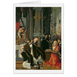 St Gregory (キャンバスの油)の固まり カード