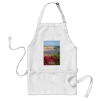 St Ives港のピンクの花 スタンダードエプロン