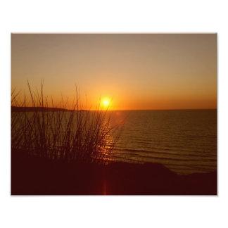St Ives湾の日没 フォトプリント