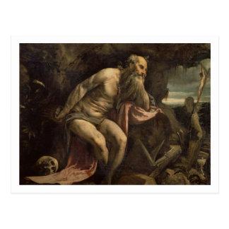 St Jeromeの早い1560年代(キャンバスの油) ポストカード