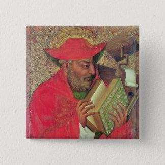 St Jerome 2 5.1cm 正方形バッジ