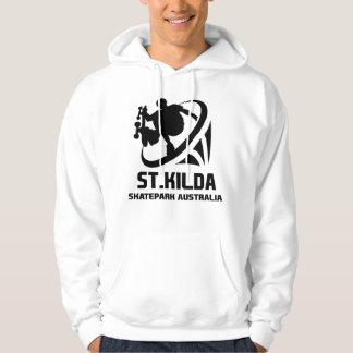 St.kilda Skateparkオーストラリアのフード付きスウェットシャツの前部 パーカ
