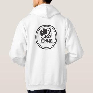 St.kilda Skateparkオーストラリアのフード付きスウェットシャツの背部 パーカ