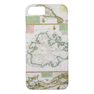 St. Kitts、アンチグアおよびバミューダ島の地図からの詳細 iPhone 8/7ケース