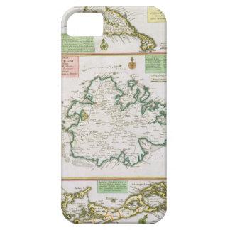 St. Kitts、アンチグアおよびバミューダ島の地図からの詳細 iPhone SE/5/5s ケース