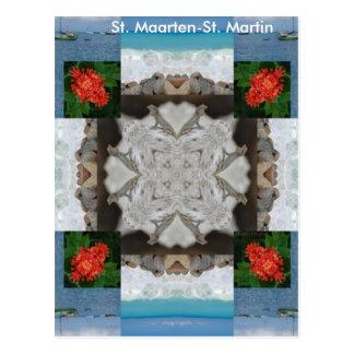 St. Maarten -セントマーチンの万華鏡のように千変万化するパターン ポストカード